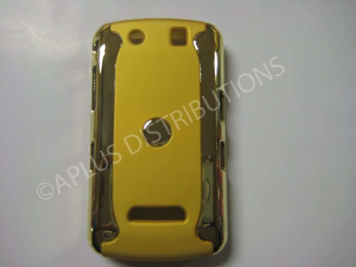 New Yellow Metallic Two Piece Design Hard Protective Cover For Blackberry 9500 - (0116)