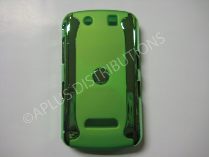 New Green Metallic Two Piece Design Hard Protective Cover For Blackberry 9500 - (0118)