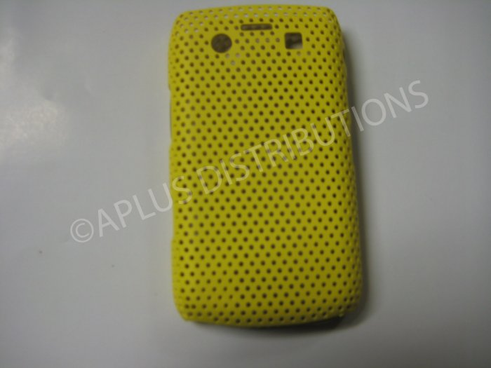 New Yellow Lattice Pattern Design Hard Protective Cover For Blackberry 9700 - (0056)