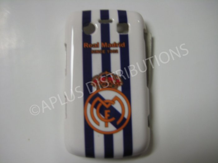 New White Real Madrid Design Hard Protective Cover For Blackberry 9700 - (0066)