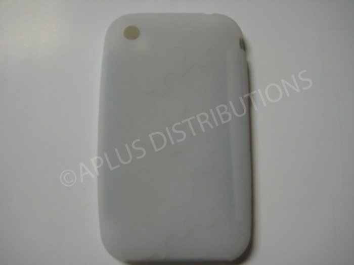 New Clear Puzzle Pattern Silicone Cover For iPhone 3G 3GS - (0031)