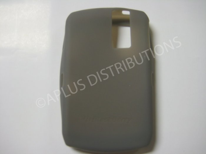 New Smoke Solid Color Silicone Cover For Blackberry 8300 - (0156)