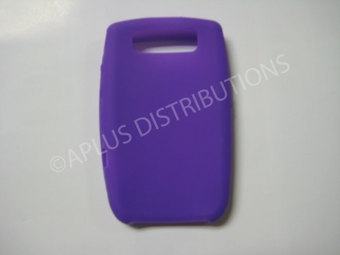 New Purple Solid Color Silicone Cover For Blackberry 8900 - (0151)