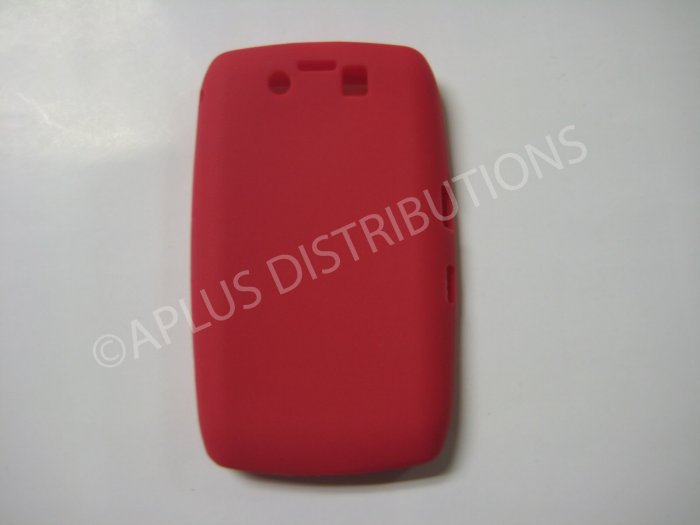 New Red Solid Color Silicone Cover For Blackberry 9500 - (0155)