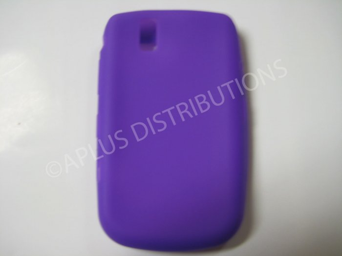 New Purple Solid Color Silicone Cover For Blackberry 9630 - (0151)