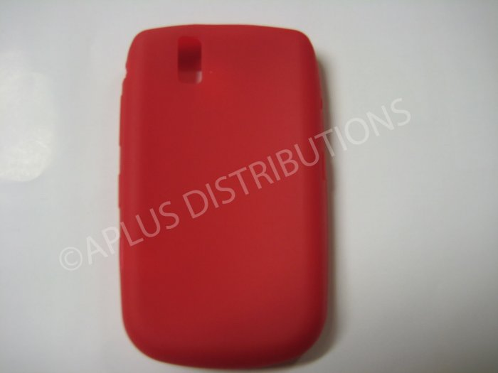 New Red Solid Color Silicone Cover For Blackberry 9630 - (0155)