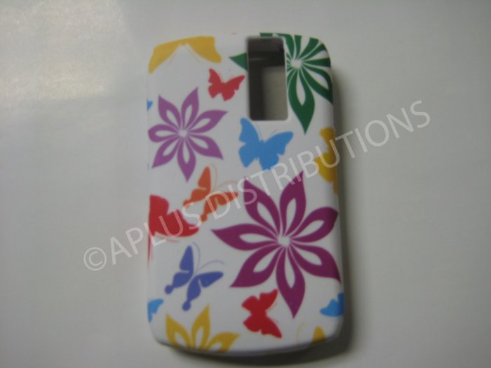 New Multi-Color Flower Image TPU Cover For Blackberry 8300 - (0092)
