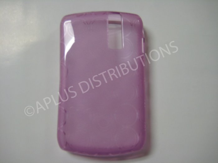 New Purple Transparent Multi-Circles TPU Cover For Blackberry 8300 - (0098)