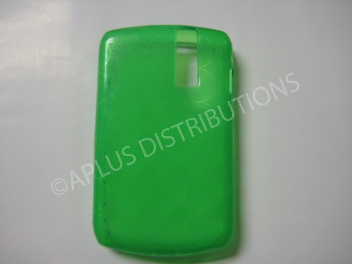 New Green Transparent Multi-Circles TPU Cover For Blackberry 8300 - (0035)