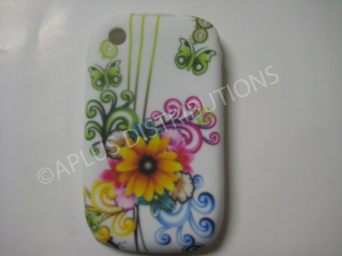 New Yellow Sun Flower TPU Cover For Blackberry 8520 - (0096)