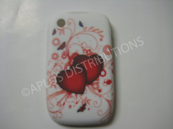 New Double Red Heart Series TPU Cover For Blackberry 8520 - (0030)