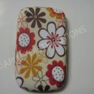 New Brown Flower Image TPU Cover For Blackberry 8520 - (0091)