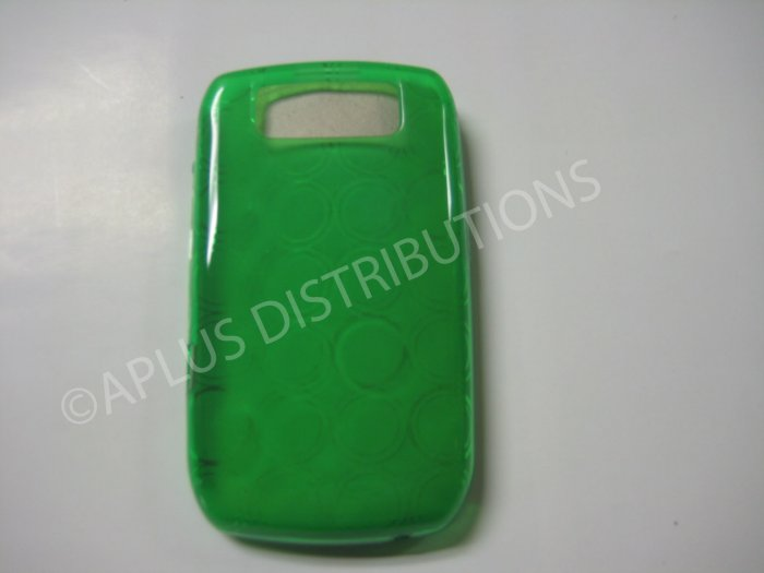 New Green Transparent Multi-Circles TPU Cover For Blackberry 8900 - (0035)