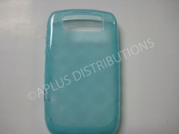 New Light Blue Transparent Multi-Circles TPU Cover For Blackberry 8900 - (0043)