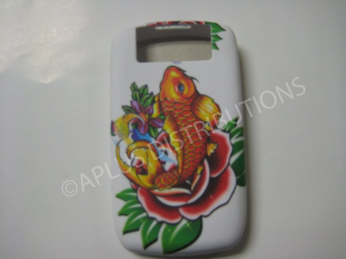 New Yellow Coy Fish TPU Cover For Blackberry 8900 - (0099)