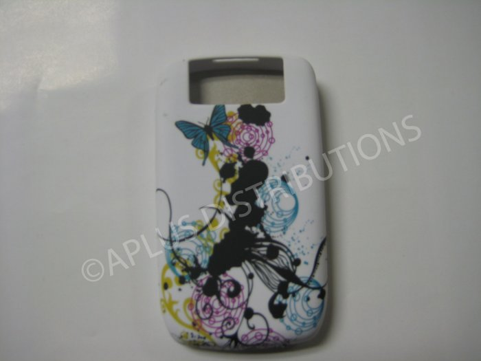 New Black Paint Graphics TPU Cover For Blackberry 8900 - (0095)
