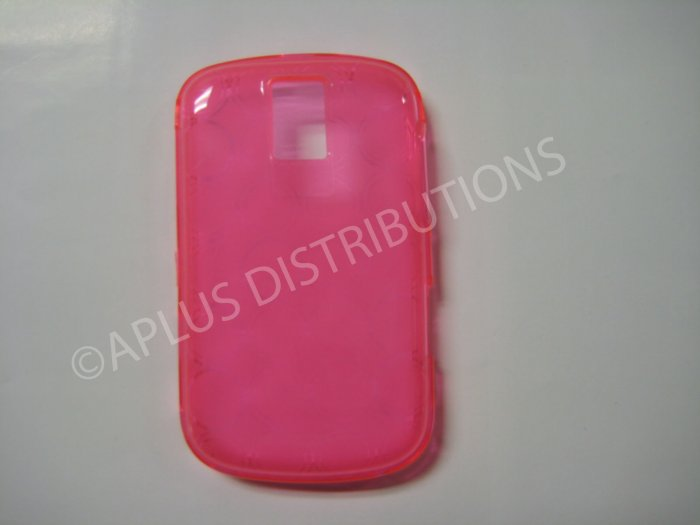 New Pink Transparent Multi-Circles TPU Cover For Blackberry 9000 - (0036)