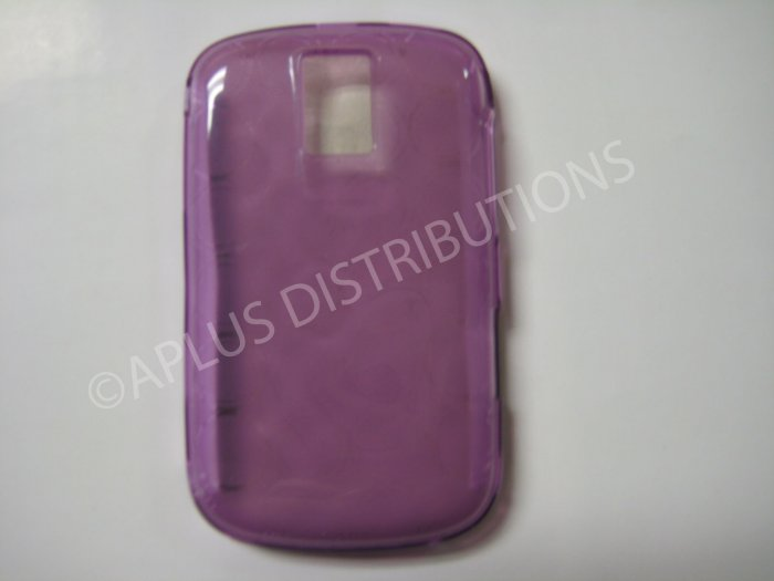 New Purple Transparent Multi-Circles TPU Cover For Blackberry 9000 - (0098)