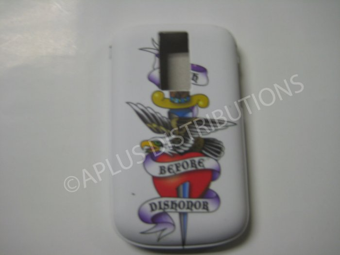 New Red Ed Hardy Dishonor TPU Cover For Blackberry 9000 - (0102)