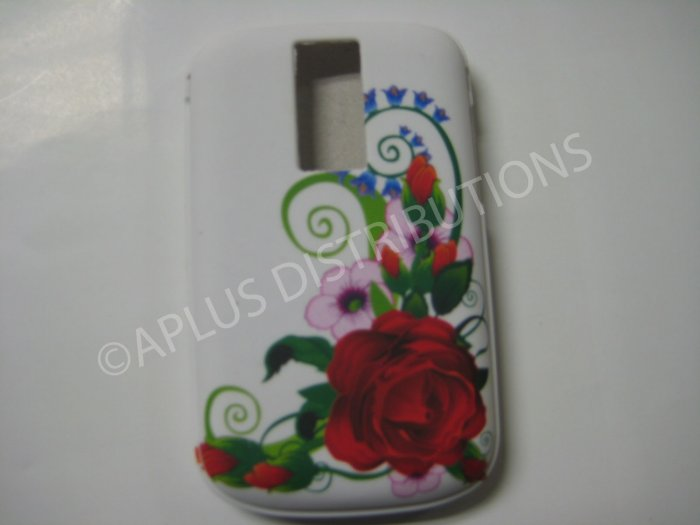 New Red Rose Bud TPU Cover For Blackberry 9000 - (0029)