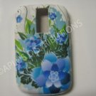 New Blue Carnation Flower TPU Cover For Blackberry 9000 - (0103)