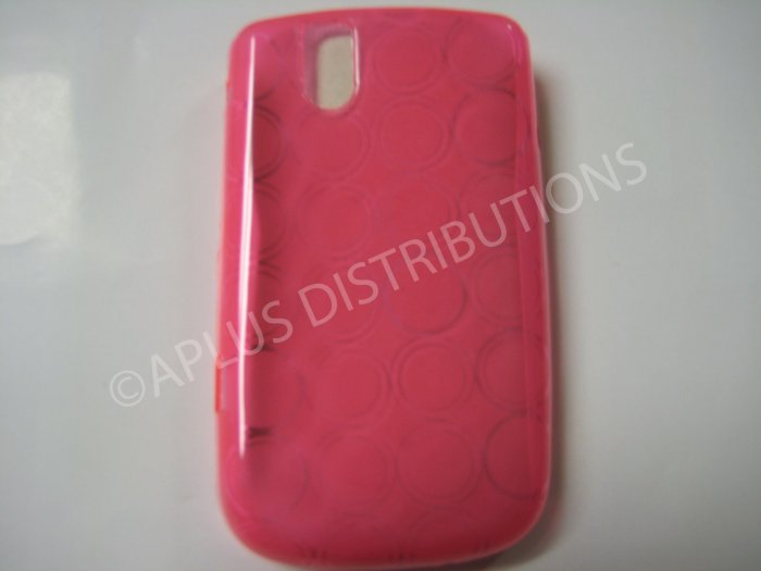 New Pink Transparent Multi-Circles TPU Cover For Blackberry 9630 - (0036)