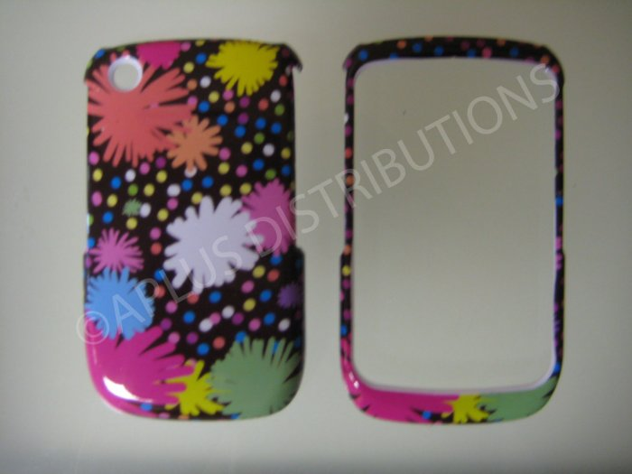 New Multi-Color Pom Pom Design Design Hard Protective Cover For Blackberry 8520 - (0109)