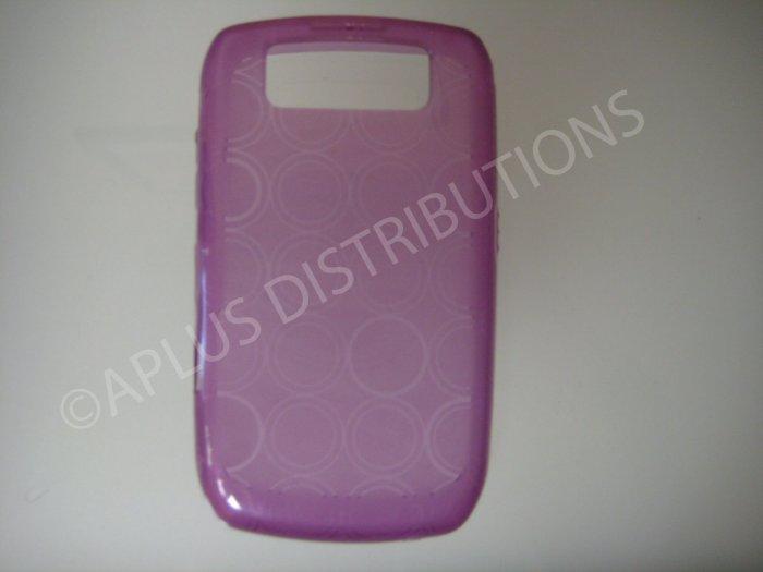 New Purple Transparent Multi-Circles TPU Cover For Blackberry 8900 - (0098)