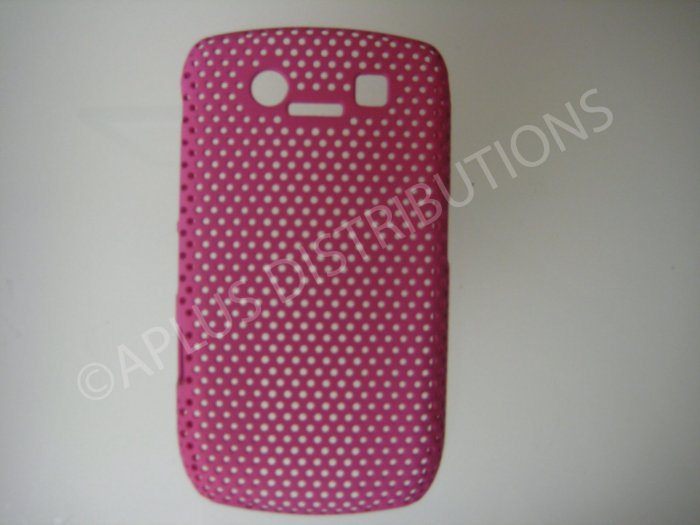 New Hot Pink Lattice Pattern Design Hard Protective Cover For Blackberry 8900 - (0015)