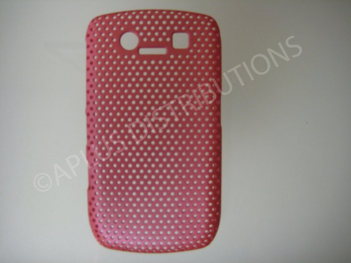 New Pink Lattice Pattern Design Hard Protective Cover For Blackberry 8900 - (0061)