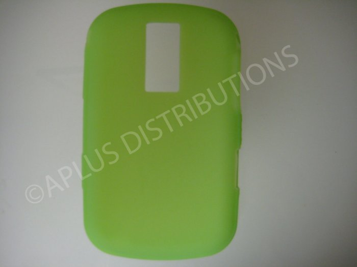 New Lime Green Solid Color Silicone Cover For Blackberry 9000 - (0188)