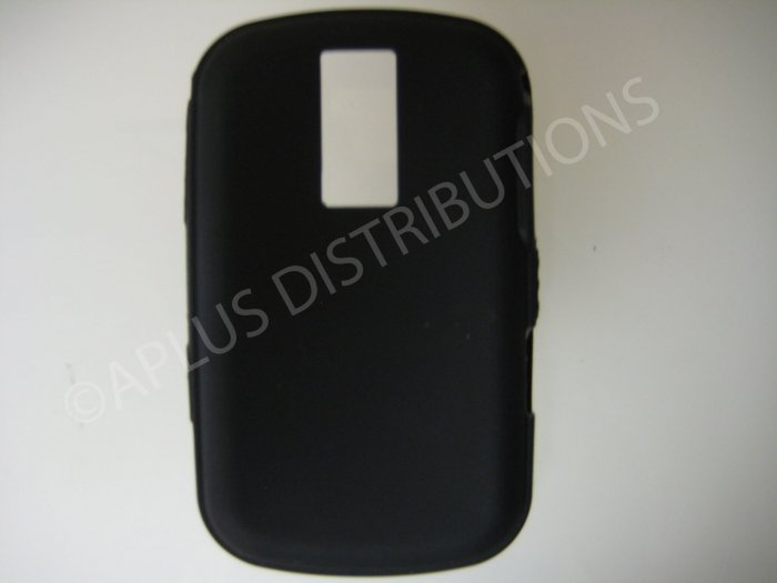 New Black Solid Color Silicone Cover For Blackberry 9000 - (0157)