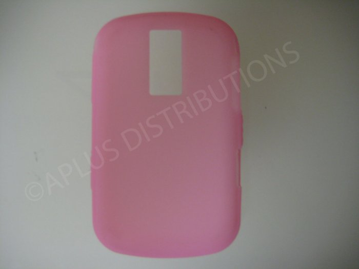 New Pink Solid Color Silicone Cover For Blackberry 9000 - (0153)