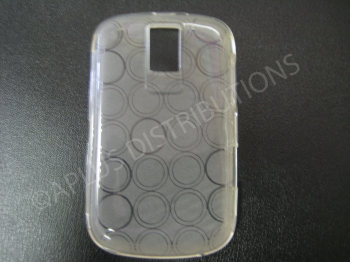 New Clear Transparent Multi-Circles TPU Cover For Blackberry 9000 - (0038)