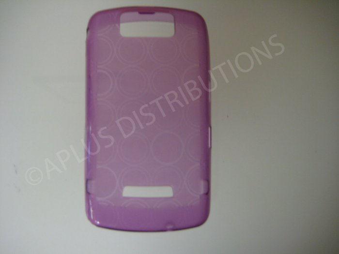 New Purple Transparent Multi-Circles TPU Cover For Blackberry 9500 - (0098)