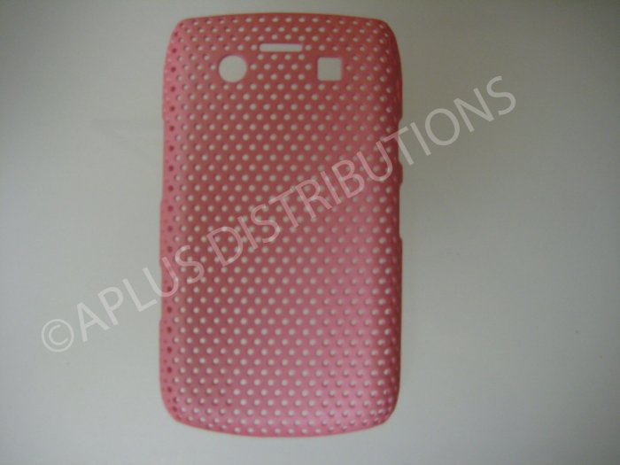 New Pink Lattice Pattern Design Hard Protective Cover For Blackberry 9700 - (0061)
