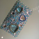 NEW FASHIONABLE BLING MULTI-HEARTS DIAMONDS FOR IPOD TOUCH 2ND 3RD GENERATION- TURQOUISE