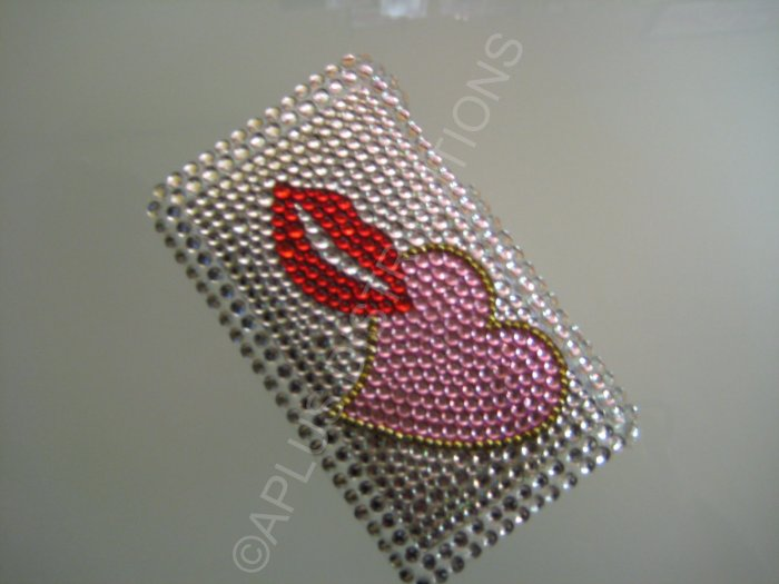 NEW FASHIONABLE BLING LIPS N HEART FOR IPOD TOUCH 2ND 3RD GENERATION- RED/PINK