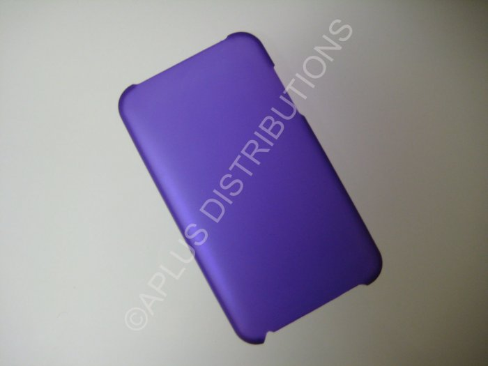 NEW Hard Protective Case For 2ND 3RD GENERATION SOLID TRANSPARENT COLOR IPOD TOUCH- PURPLE