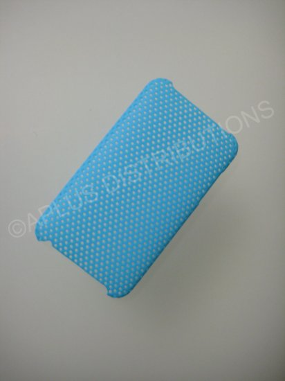 NEW Hard Protective Case For 2ND 3RD GENERATION SOLID LATTICE PATTERN IPOD TOUCH-LIGHT BLUE