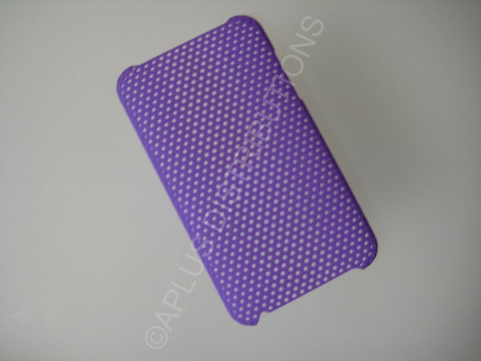 NEW Hard Protective Case For 2ND 3RD GENERATION SOLID LATTICE PATTERN IPOD TOUCH-PURPLE