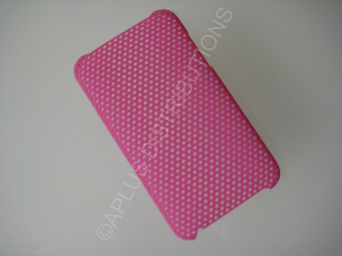 NEW Hard Protective Case For 2ND 3RD GENERATION SOLID LATTICE PATTERN IPOD TOUCH-PINK