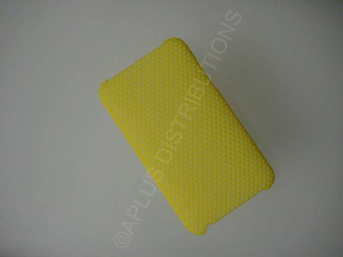 NEW Hard Protective Case For 2ND 3RD GENERATION SOLID LATTICE PATTERN IPOD TOUCH-YELLOW
