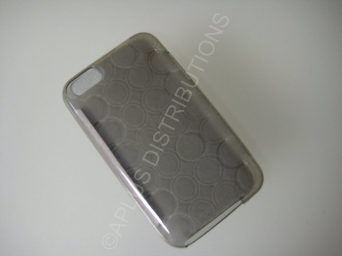 NEW FOR IPOD TOUCH 2ND & 3RD GENERATION TRANSPARENT MULTI-CIRCLES-SMOKE