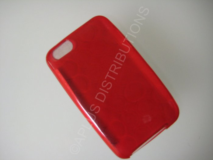 NEW FOR IPOD TOUCH 2ND & 3RD GENERATION TRANSPARENT MULTI-CIRCLES-RED