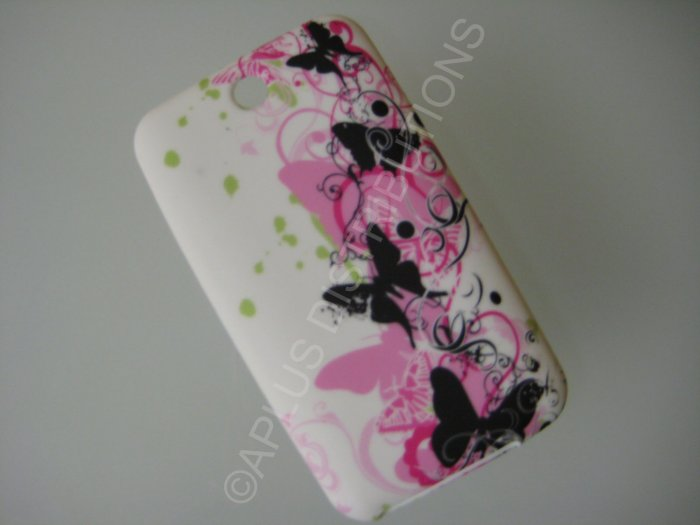 NEW FOR IPOD TOUCH 2ND & 3RD GENERATION BUTTERFLY IMAGE-PINK/BLACK