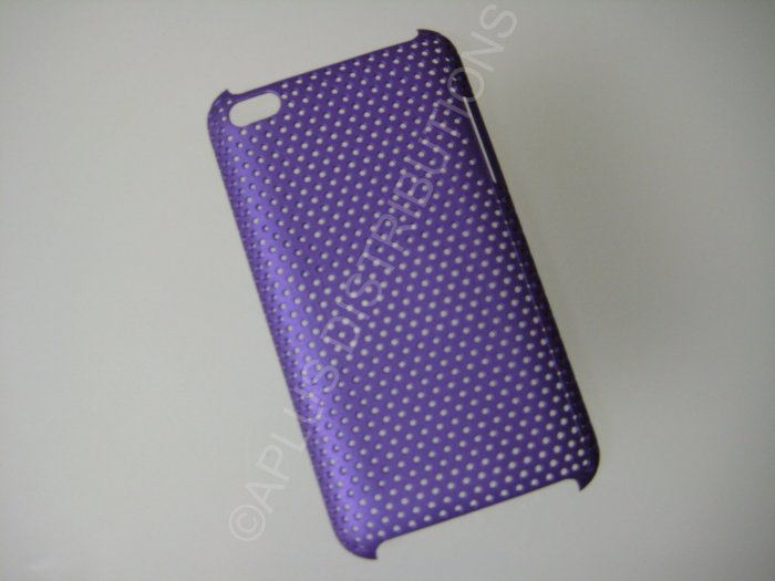 NEW Hard Protective Case For 4TH GENERATION LATTICE PATTERN HARD COVER IPOD TOUCH- PURPLE