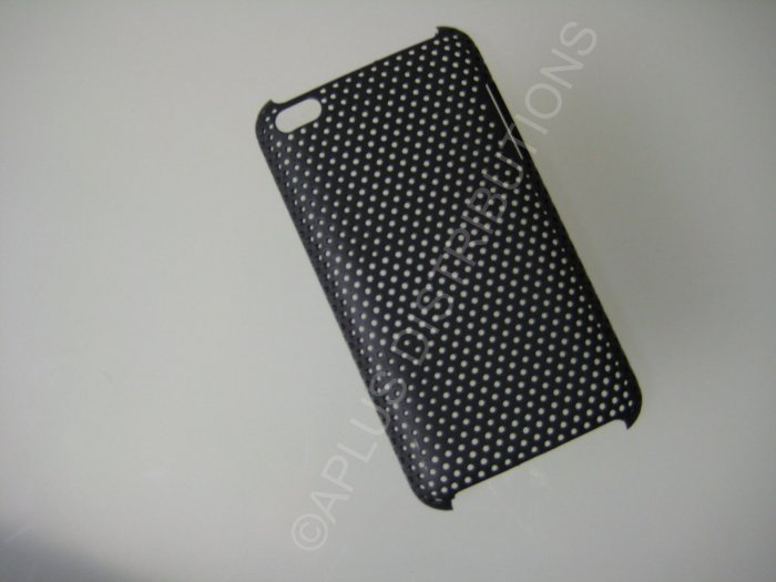 NEW Hard Protective Case For 4TH GENERATION LATTICE PATTERN HARD COVER IPOD TOUCH- BLACK