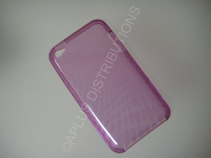 NEW FOR IPOD TOUCH 4TH GENERATION TRANSPARENT SWIRL ROUNDLETS-PURPLE