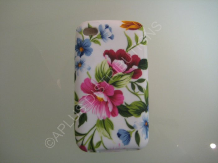 NEW FOR IPOD TOUCH 4TH GENERATION PINK FLOWERS-WHITE